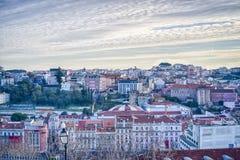 Lisbona del centro, Portogallo Fotografie Stock Libere da Diritti