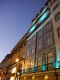 Lisbona di notte Immagine Stock Libera da Diritti
