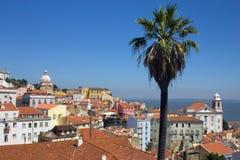Lisbona ed il fiume di Tejo Fotografia Stock Libera da Diritti