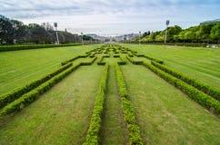 Lisbona ha osservato dalla sosta di Eduardo VII Immagini Stock
