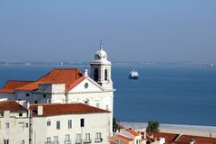 Lisbona - Igreja de Santo Estêvão Fotografia Stock Libera da Diritti