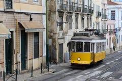 Lisbona, Lisbona, tram di Lissabon Fotografia Stock Libera da Diritti
