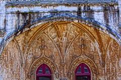 Lisbona - monastero di Jeronimos del dettaglio Fotografia Stock Libera da Diritti