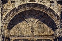 Lisbona - monastero di Jeronimos del dettaglio Fotografie Stock Libere da Diritti