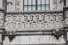 Lisbona - monastero di Jeronimos del dettaglio Fotografia Stock
