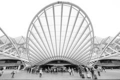 Lisbona Oriente station arkivbilder