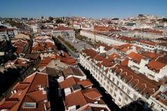 Lisbona panoramica Immagini Stock Libere da Diritti