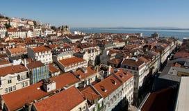 Lisbona panoramica Immagine Stock Libera da Diritti