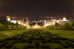 Lisbona, Parque Eduardo VII Fotografia Stock