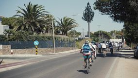 LISBONA, PORTOGALLO, il 15 settembre 2017: I ciclisti su veloparade, più di mille genti hanno partecipato alla parata della bicic video d archivio
