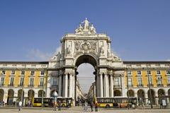 Lisbona - quadrato di commercio Fotografia Stock