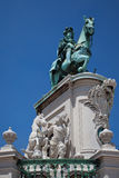 Lisbona - quadrato di commercio Fotografie Stock