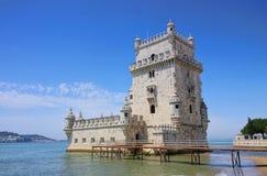 Lisbona Torre de Belem Fotografie Stock Libere da Diritti