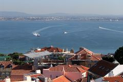 Lisbona, vista Fotografia Stock Libera da Diritti