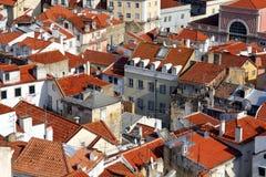 Lisbona - vista sopra Alfama Fotografie Stock Libere da Diritti