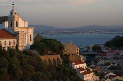 Lisbonne avec Tejo photos stock