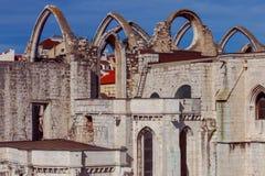 Lisbonne. Carmo Church. Stock Photos