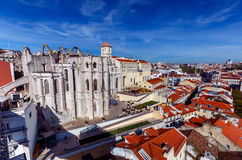 Lisbonne. Carmo Church. Royalty Free Stock Photography