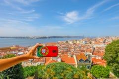 Lisbonne décrit l'antenne Images libres de droits
