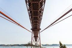 Lisbonne - 25 De Abril Metallic Bridge Image libre de droits