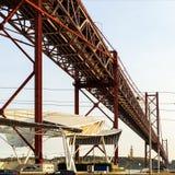 Lisbonne - 25 De Abril Suspension Bridge Images stock