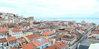 Lisbonne di VUE du centre de, Portogallo Fotografia Stock Libera da Diritti