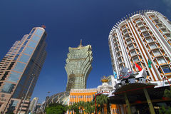 Lisbonne grande et Skycraper Macao Image libre de droits