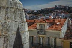 Lisbonne lapide des collines photographie stock libre de droits