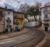 lisbonne Les tramways amènent Image libre de droits