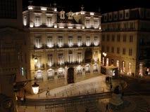 Lisbonne par nuit Photo stock