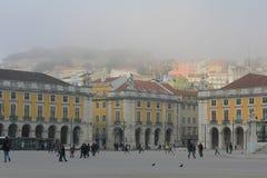 Lisbonne, place de commerce Photographie stock