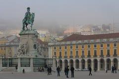 Lisbonne, place de commerce Image stock
