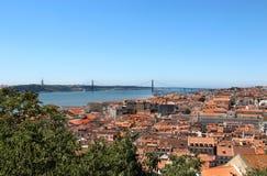 Lisbonne, Portugal, 25ème de la passerelle d'avril Photographie stock