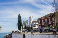 Lisbonne, Portugal : Haute et belvédère de Santa Luzia image libre de droits