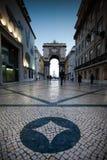 LISBONNE, PORTUGAL - 26 janvier 2011 : Le Rua Augusta est un secteur Photographie stock