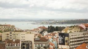 Lisbonne, Portugal : l'estuaire du Tage et des deux banques Photos libres de droits