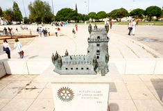 LISBONNE, PORTUGAL - OCTOBRE 23,2012 : Sculpture en tour de Belem sur le Th Image libre de droits