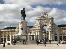 Lisbonne, Praça font Comércio photographie stock libre de droits