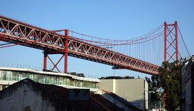 Lisbons Golden gate bridge Royaltyfri Foto
