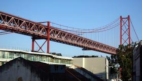 Lisbons Golden Gate bridge Royalty Free Stock Photo