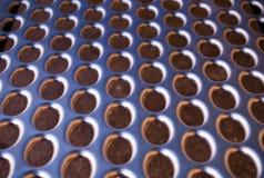 Lisci il metallo forato 2 Fotografie Stock