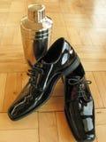 Lisci le calzature convenzionali di occasione per l'uomo elegante immagini stock libere da diritti