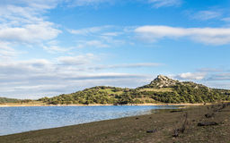 Liscia Dom. Liscia artificial lake is a reserve of water Stock Photography