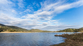Liscia Dom. Liscia artificial lake is a reserve of water Stock Photo