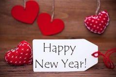 Lisez les coeurs, label, bonne année des textes Photographie stock