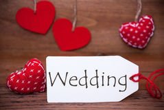 Lisez les coeurs, label, mariage des textes Photos stock