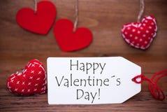 Lisez les coeurs, label, textotez le jour de valentines heureux Photos stock