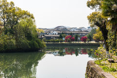 Lishui ancient street and lake Royalty Free Stock Photos