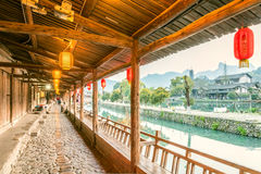 Lishui ancient street Stock Photo