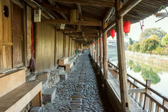 Lishui ancient street Royalty Free Stock Photo